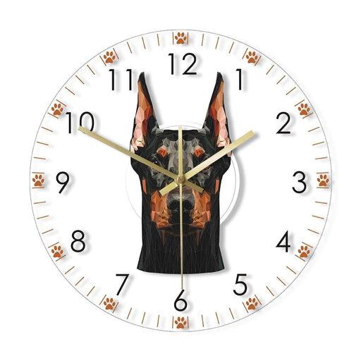 Doberman Pinscher Head Wall Clock Doberman Portrait Silent Non ticking Wall Watch Home Decor Puppy Dog Doggie Pet Breed Gift