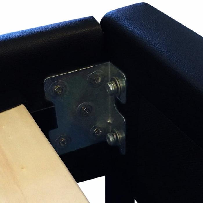Mondeo Pu Leather Queen Black Bed - Furniture > Bedroom