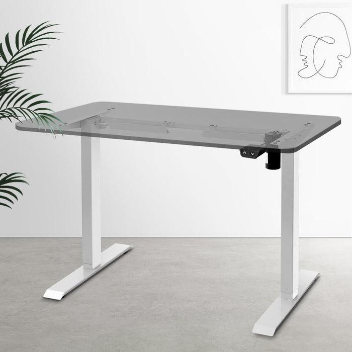Motorised Adjustable Desk Frame White - Furniture > Office