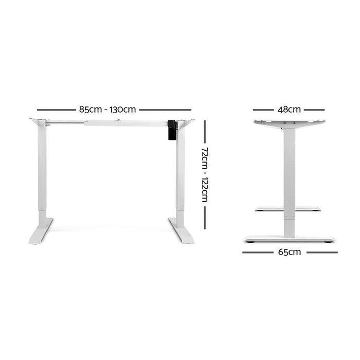 Motorised Adjustable Desk Frame White goslash fast delivery fast delivery