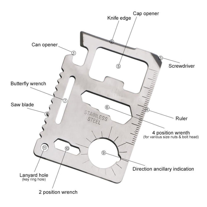 Multifunction 10 in 1 Mini Survival Pocket Tool goslash fast delivery fast delivery