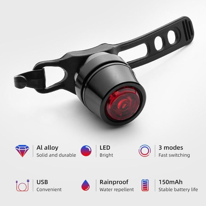 ROCKBROS Bicycle Rear Light Led USB Rechargeable Red Light