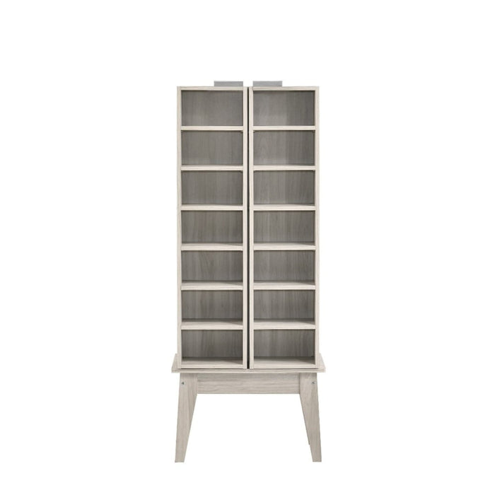 Multimedia Dvd Cd Storage Cabinet with Hidden Compartment in