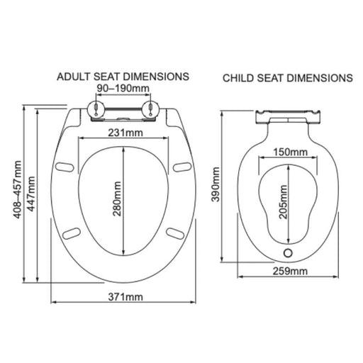 Multipurpose & Universal Family Soft-close Toilet Seat -