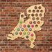 Netherlands Beer Cap Map Patriotic Wooden Wall Sign Map Of Holland Wine Bottle Cap Display Holder Dutch Man Cave Beer Lover Gift