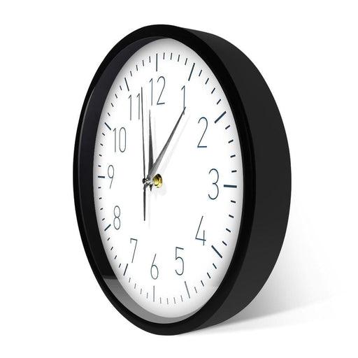 Nordic Modern Minimalist Wall Clock Home Decor Metal Frame Wall Clock With Sound Control Night Light Living Room Luminous Clock
