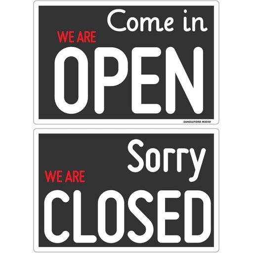'Open' / 'Closed' Plastic Sign goslash fast delivery fast delivery