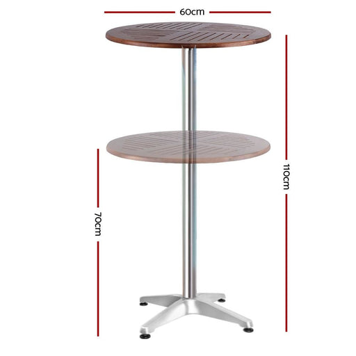 Outdoor Bar Table Furniture Wooden Cafe Table Aluminium