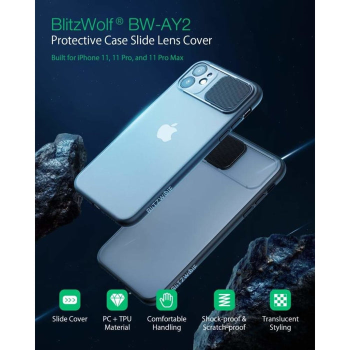 Peeping Slide Lens Cover Translucent Green Protective Case +