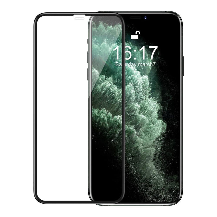 BlitzWolf® BW-AY2 Anti-Hacker Peeping Slide Lens Cover Translucent Green Protective Case + BlitzWolf® BW-AY1 2Pcs 9H 3D Soft Edge Tempered Glass Screen Protector for iPhone 11 Pro Max