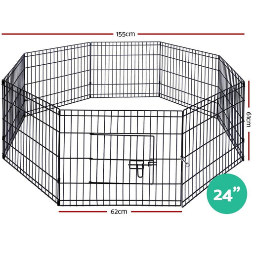 I.pet 24 8 Panel Pet Dog Playpen Puppy Exercise Cage