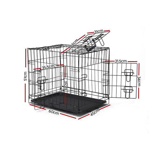 I.pet 24inch Pet Cage - Black - Pet Care > Dog Supplies