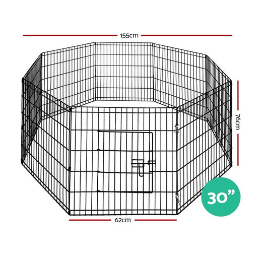 I.pet 30 8 Panel Pet Dog Playpen Puppy Exercise Cage