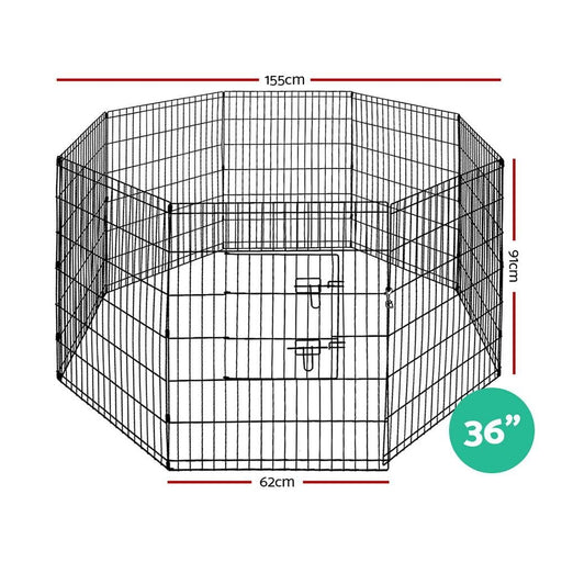 I.pet 36 8 Panel Pet Dog Playpen Puppy Exercise Cage