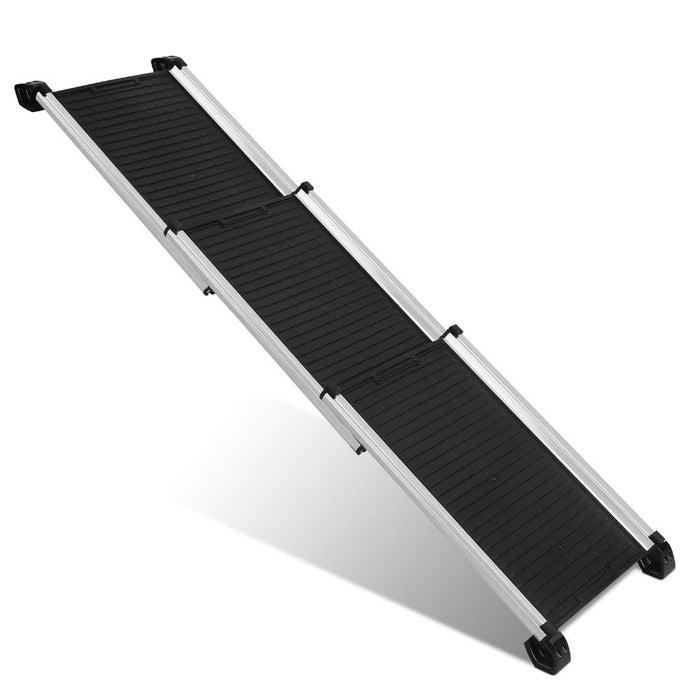 i.Pet Deluxe Aluminium Foldable Pet Ramp - Black