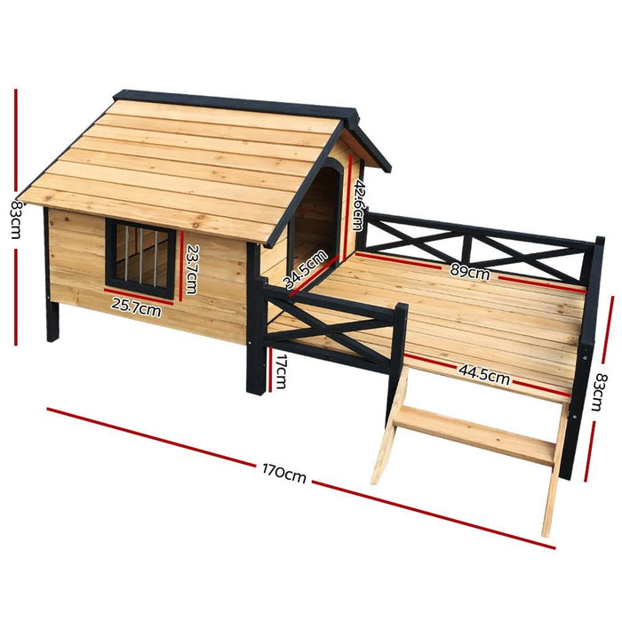 I.pet Dog Kennel Kennels Outdoor Wooden Pet House Puppy