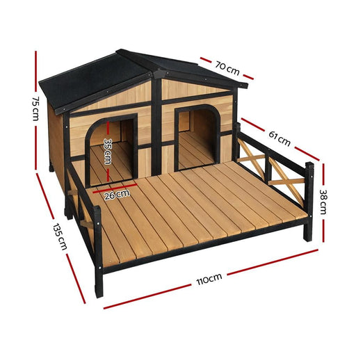 I.pet Extra Extra Large Wooden Pet Kennel - Pet Care > Dog