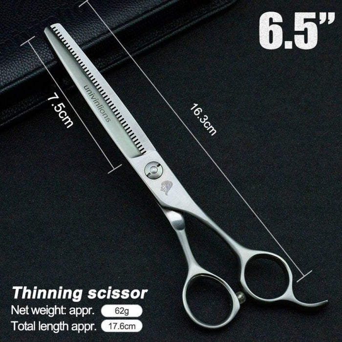 "6.5"" Pet Dog Gromming Scissors Thinning Shears Sharp Edge Animals Cat Reversed Tooth Barber Hair Thinning Barber Cutting Tools"