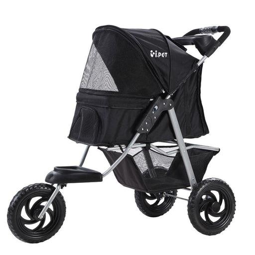 i.Pet Pet Stroller Dog Carrier Foldable Pram Large Black