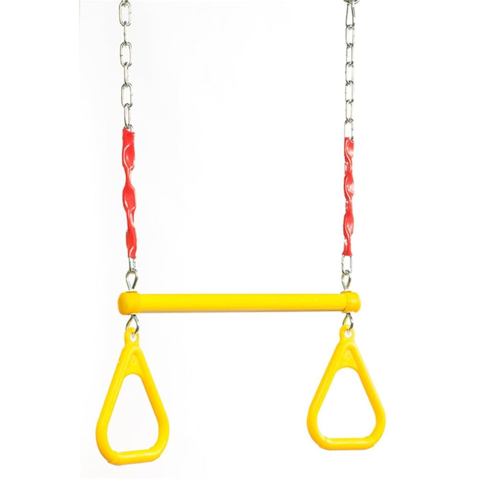 Plastic/ Steel Trapeze With Rings & Chain - Two Colours goslash fast delivery fast delivery