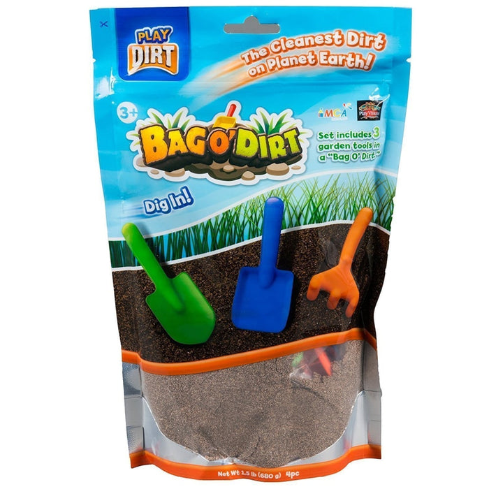 Play Dirt - Bag O' Dirt with 3 Garden Tools 453gms goslash fast delivery fast delivery