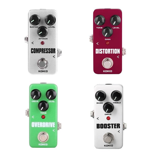 Portable Guitar Effect Pedal Compressor Booster Distortion Overdrive Fully