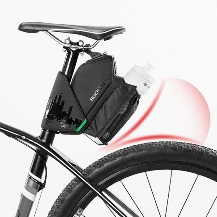 ROCKBROS Bike Saddle Bag With Water Bottle Pocket Waterproof