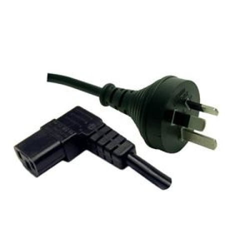 Power Cord - Right Angle 10A/250V IEC (F) to 3 Pin Power (M)