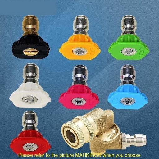 Pressure Washer Accessories Kit 7 Power Washer Spray Nozzle Tips 1/4 inch Quick Connecting Pivoting Coupler 4500 PSI