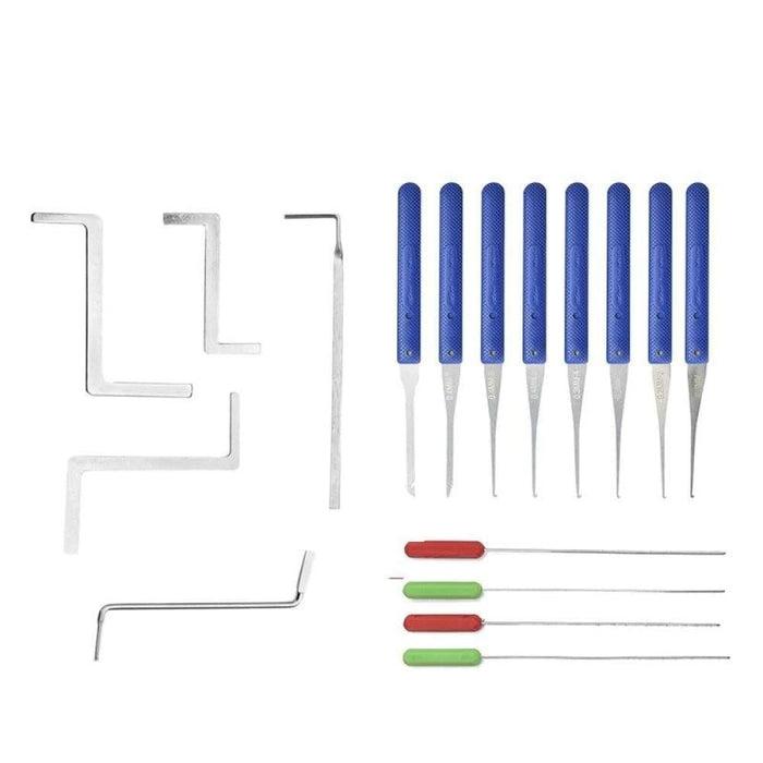 NAIERDI Practice Padlock Locksmith Tools Tension Wrench Visible Lock Pick Set With Broken Key Removing Hooks Supplies Hardware