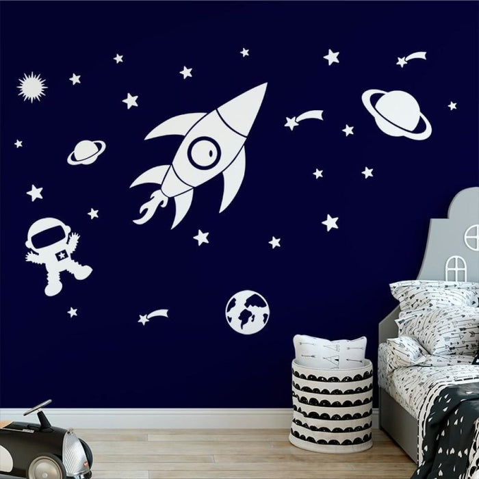 Creative Outer Space Planet Wall Stickers for Kids Room