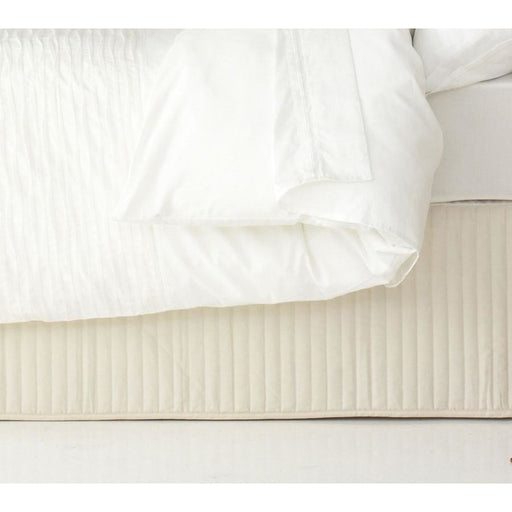 Quilted Cream King Single Valance by Ardor