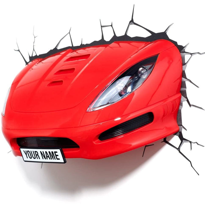 Red Sports Car - 3d Deco Light - Urban Traders