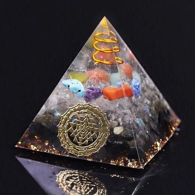 Reiki Orgone Pyramid Energy Generator Seven Chakra Meditation Yoga Development Labradorite Emf Shield Pyramid