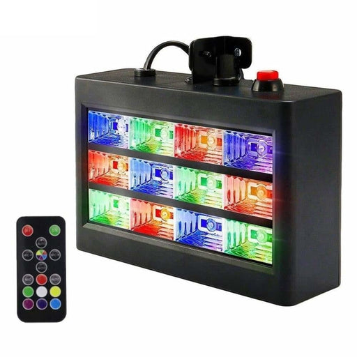 ALIEN Remote Control 12 LED RGB White Strobe Stage Lighting Effect Disco DJ Bar Holiday Party Christmas Flash Sound Active Light