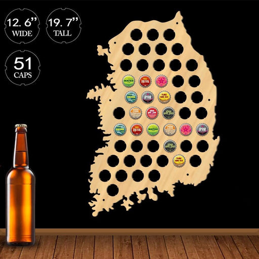 Republic Of Korea Beer Cap Map Wooden Korea Decor Asian Map Of Korea Beer Bottle Cap Display Holder Man Cave Beer Lovers Gift