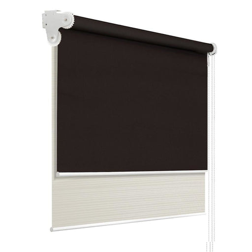 Roller Blinds Blockout Blackout Curtains Window Double Dual Shades 0.9X2.1M CRCO