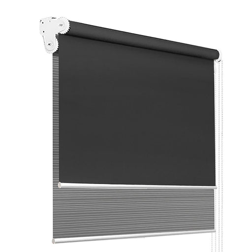 Roller Blinds Blockout Blackout Curtains Window Double Dual Shades 0.9X2.1M GRDG