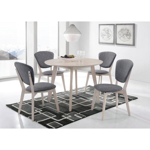 Round Dining Table Solid Hardwood White Wash - Furniture >