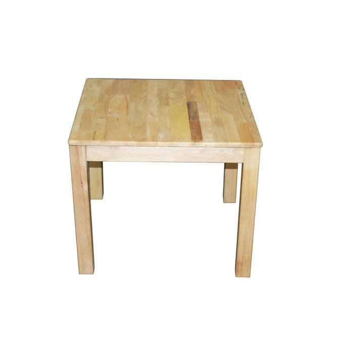 Rubberwood Square Table