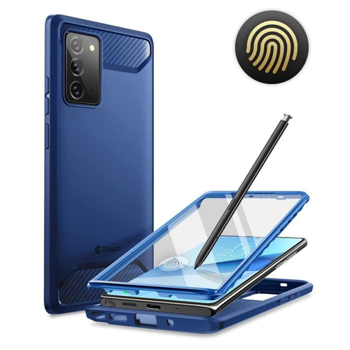 For Samsung Galaxy Note 20 Fully Rugged Case Cover with Built-in 3d Curved
