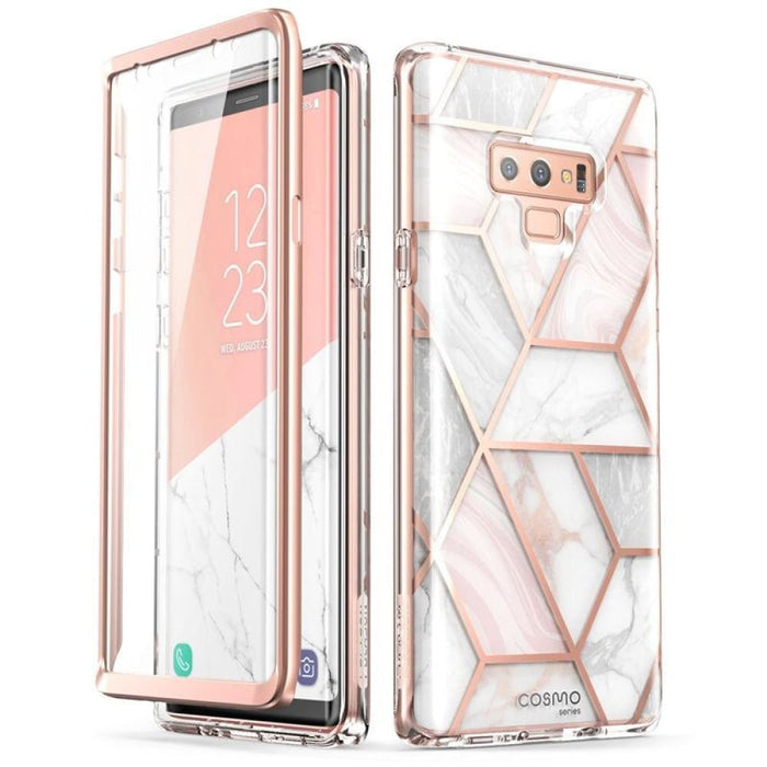 For Samsung Galaxy Note 9 Cosmo Glitter Marble Protective Cover Case W/ Built-in