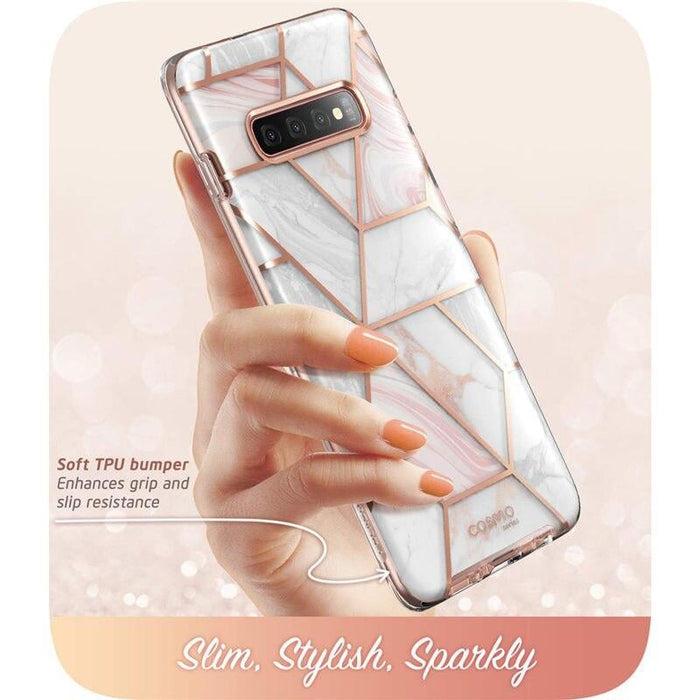 For Samsung Galaxy S10 Cosmo Glitter Full-body Bumper Case