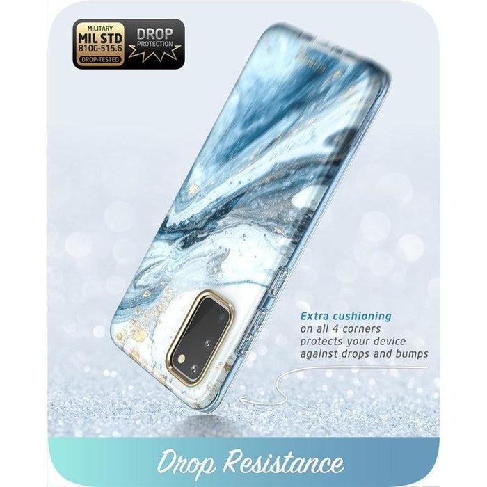 For Samsung Galaxy S20 / S20 5g Cosmo Glitter Marble Bumper Case