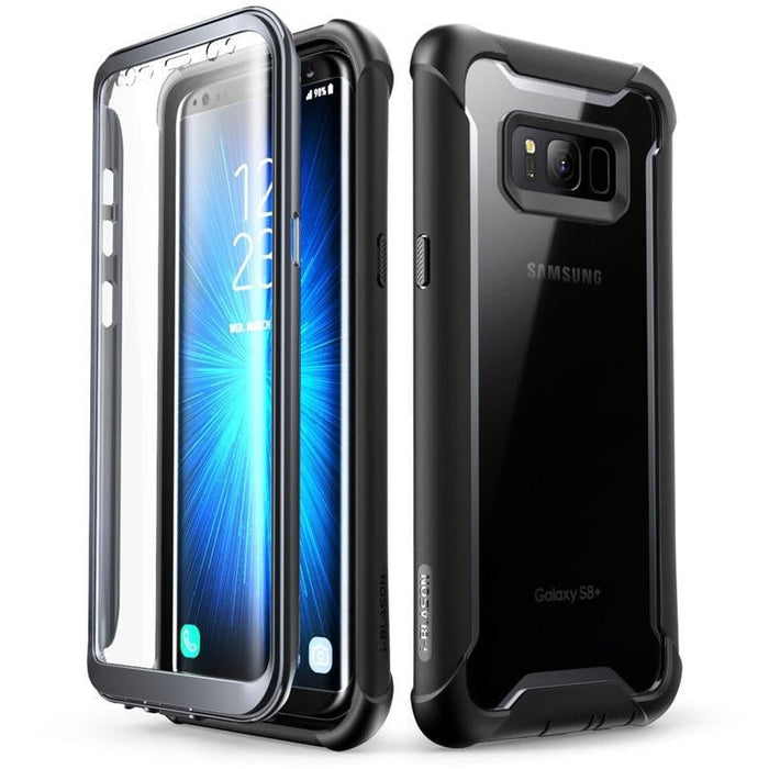 For Samsung Galaxy S8 - Ares Series Rugged Clear Bumper Case W/ Built-in Screen