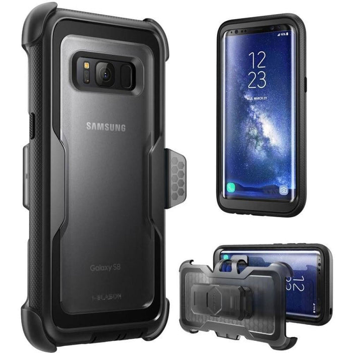"""I-BLASON For Samsung Galaxy S8 Case 5.8"""" Armorbox Full-Body Heavy Duty Protection Shock Reduction Cover WITHOUT Screen Protector"""