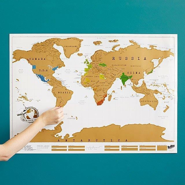 Scratch Off World Map with Packaging goslash fast delivery fast delivery