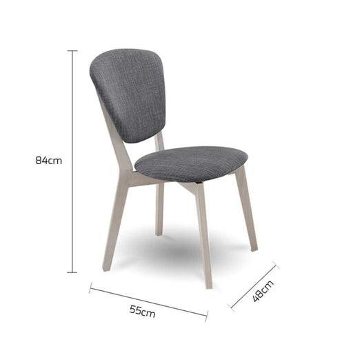 Set of 2 Dining Chair Solid Hardwood White Wash - Furniture