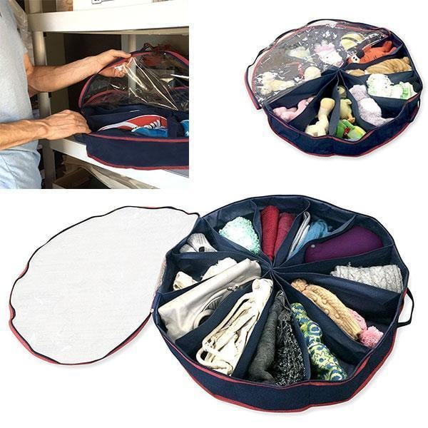 Set of 2 Round Shoes Organizers goslash fast delivery fast delivery