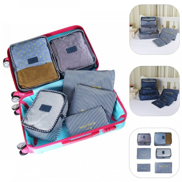 Set of 6 Waterproof Travel Clothes Organiser goslash fast delivery fast delivery